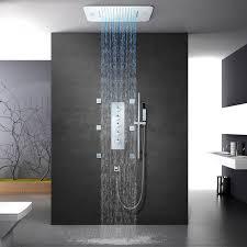 musik dusche systeme badezimmer led dusche set 304 edelstahl