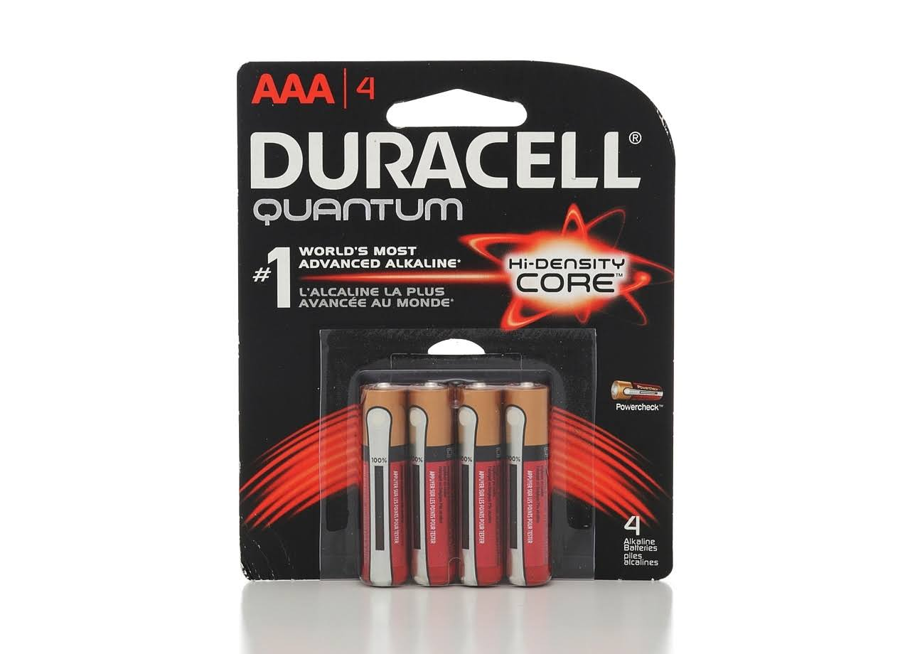 Duracell Quantum Alkaline Batteries - Size AAA, 4 Pack