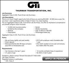 100 Class A Truck Driver Jobs Cleburne Times Review Newspaper Ds Ifieds Employment