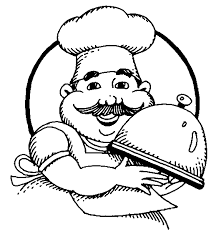 kids cooking clipart black and white 1688