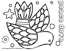 Coloring Pages Book For Kids Boys Images 48 Christmas Dove Coloringkidsboys