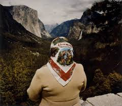roger minick woman with scarf at inspiration point yosemite