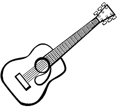 Free Printable Coloring Guitar Pages 55 In Picture