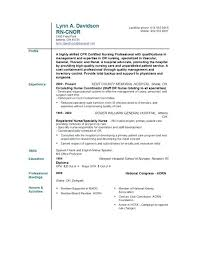 Resume Profile Examples For Rn Also Nursing Template Nurse