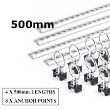 100 Truck Bed Tie Down System L Track Airline Rail 50CM With Single Stud Fitting