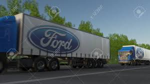 Freight Semi Trucks With Ford Motor Company Logo Driving Along ... Nizhny Novgorod Russia July 26 2014 White Semitrailer Truck Fs2015 Ford L9000 Semi Dyeable Truck Ford Defender Bumpers Cs Diesel Beardsley Mn File1948 F6 Cabover Coe Semi Tractor 02jpg Wikimedia Fatal Accident In Katy Sparks Driver Drug Alcohol Tests Jumps The Electric Bandwagon With New Fvision Salo Finland June 14 Yellow Cargo 1830 Trailer Trucks Wicks 2 Locations Serving Nebraska Tamiya 114 Aeromax Horizon Hobby