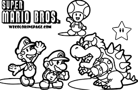 Super Mario Pack Scene Coloring Page