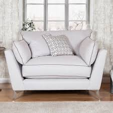 Roko Cosmo Silver Fabric Snuggler Chair Costco UK