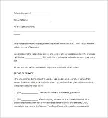 Notice To Vacate 18 Free Samples Examples Format Download