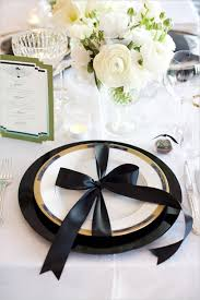 Wedding Reception Ideasblack Gold Table Ideasgold Black Setting