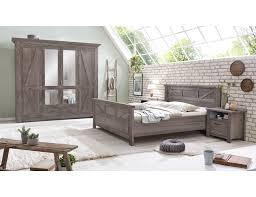 schlafzimmer altkiefer massiv grau braun baleo 4 teilig