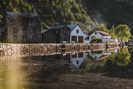 100 Houses In Norway Lake With Wooden In