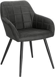 esszimmerstuhl aus stoffbezug modell dunkelgrau