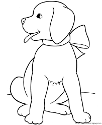 Cute Dogs Coloring Pages To Print For Kids