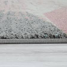 paco home teppich mero 102 rechteckig 17 mm höhe kurzflor pastell farben vintage design wohnzimmer