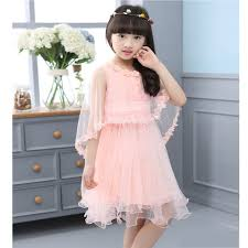 New Girl Dresses 2017 Summer Kids Fashion Dress Shawls Lace Clothes Floral Design Formal For