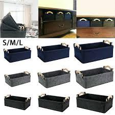 korb transport aufbewahrungsbox filz quadratisch für badezimmer schrank regale ebay