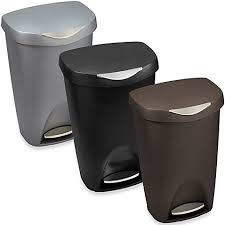 Bronze Bathroom Trash Can With Lid by Umbra Brim 13 Gallon Step Waste Can Bed Bath U0026 Beyond