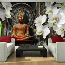details zu vlies fototapete buddha orchidee blumen zen ornament wohnzimmer abstrakt 831