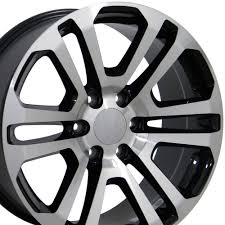 Amazon.com: 20x9 Wheels Fit GM Trucks - Sierra Style Rims - Black W ... Black Iron Wheels Styles Truck 245 Alinum Roulette Or Trailer Wheel Buy Rims And Tires Monster For Best With 18 Inch 042018 F150 Xd 20x9 Matte Rock Star Ii 18mm Offset Double Standard Offroad Method Race Today I Traded In Darth Vader Black Truck Wheels For A Sota Scar Stealth Custom Indy Oval Style Drive Trucks Worx 801 Triad On Sale Rhino And Off Road Product Release At The Sema Fuel D538 Maverick 1pc With Milled Accents