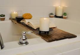enchanting premium bamboo bath caddy luxurious wooden bathtub tray