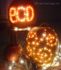 Pumpkin Carving Drill by Broke Out The Drill An Old Martha Stewart Trick Push White
