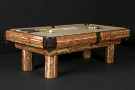 Red Cedar Log Pool Table