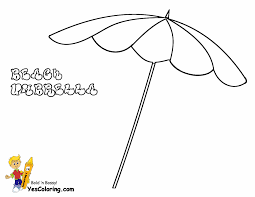 Print Out Picture Of Beach Umbrella