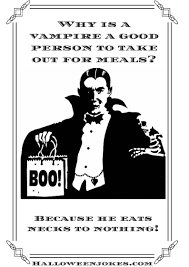 Halloween Fun Riddles by Black And White Halloween Joke Cartoon Vampire Boo Cpal