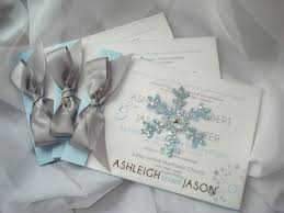 Winter Wonderland Glitter Snowflake Ice Crystal Silver Gray Blue Black White Vellum Transparent Modern Booklet Wedding Invitation