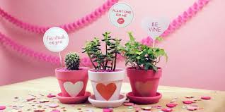 Diy Valentines Day Planters