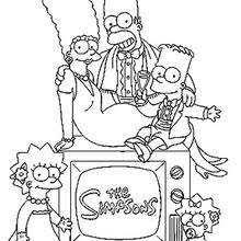 Apu Family Portrait Coloring Page