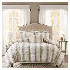 faux fur bedding target