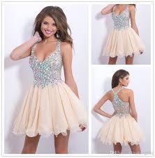 cheap homecoming dresses discount 2014 short mini halter v neck