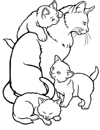 Detail Coloring Pages Of Mommy Cat