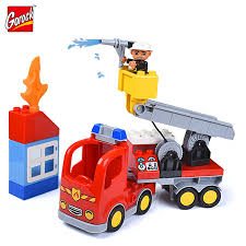 100 Fire Truck Kids Blocks Toys Educational Assembled Model DIY Man
