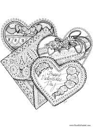 Three Valentines Coloring Page