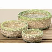 klein hängeaufbewahrung bambuskorb josy 3er set deko korb