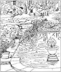Pleasant View Of Some Attractive Gardens 17 Garden Detailed Coloring Pages