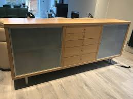 100 Lignet Rose FREE Designer Sideboard From Maple Frosted Glass 5