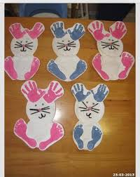 Bunny With Childs Handprints And Footprints
