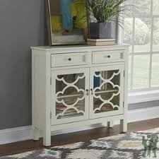 Canady White Slimline Console Powell Furniture 15A8186W