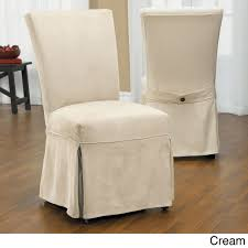 Restore The Look Of Any Dining Chair With This Luxury Suede ... Details About Elegant Kitchen Ding Room Chair Covers Skirt Slipcovers Wedding Decoration Hong Spandex Stretch Washable For Chairs Parsons Office Black 48 Most Of Photographs Oversized Navy Anywhere Slipcover Stylish Look Luxury Light Brown Modern Leather Red Home Decor High Definition As Cozy Shabby Chic For Inspiring Interior Fniture Sure Fit Cotton Duck Walmart Table Height Also Attractive