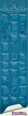 Buying Your First House This Ultimate Time Home Buyer Checklist Infographic Will Help
