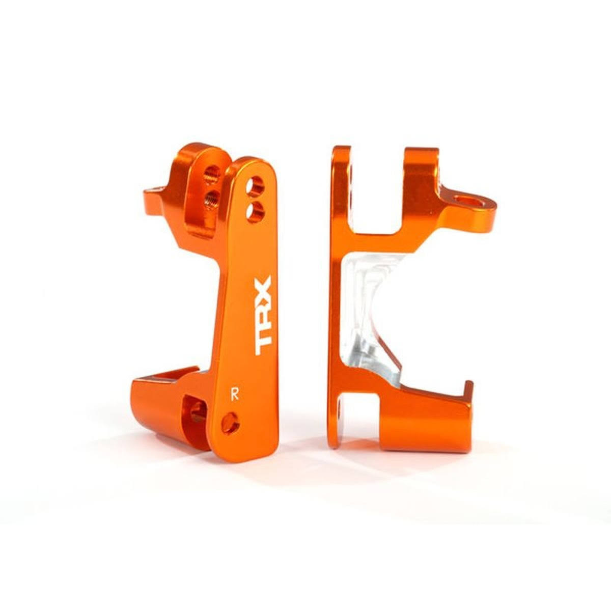 Marklin Caster Blocks (C-Hubs), 6061-T6 Aluminum (Orange-Anodized), Left & Right