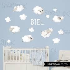 sticker mural chambre bébé et nuages blancs sticker muraux chambre bébé