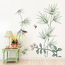 chinesische windfeder bambuswand wohnzimmer flur