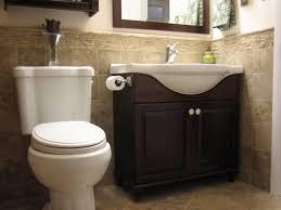 bathroom oak wooden cabinet design ideas with half bathroom ideas