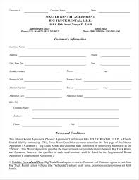 100 Truck Rental Company Agreement Template Lostranquillos