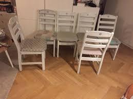 landhaus esszimmer küchen wohnzimmer stühle shabby chic weiß 6
